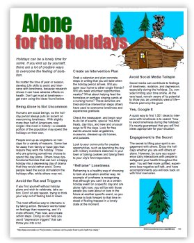 alone for the holidays image of tip sheet enjoy