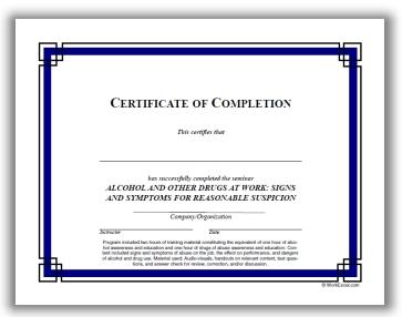dot supervisor training certificate compliance