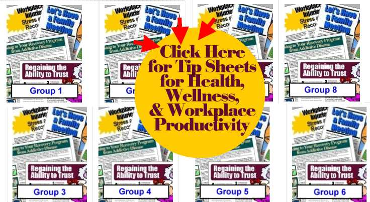 workplace health tip sheets, handouts, fact sheets
