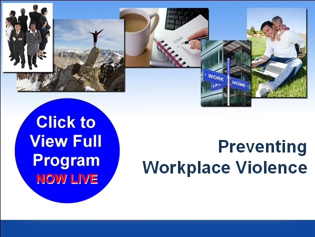 violence in the workplace training prevention
