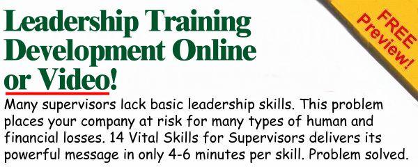 Leadership Development Training Online or Video