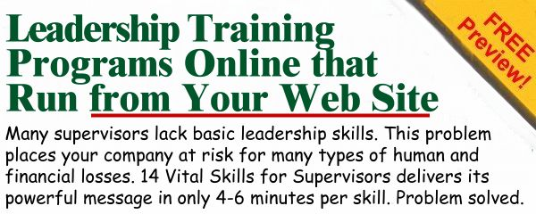 Leadership Training Programs Online or Website