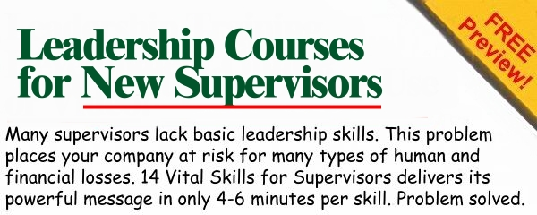 Leadership Courses for New Supervisors