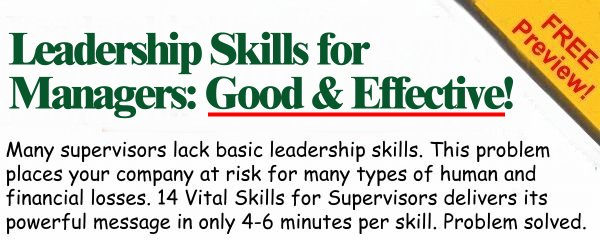 leadership skills for managers good effective